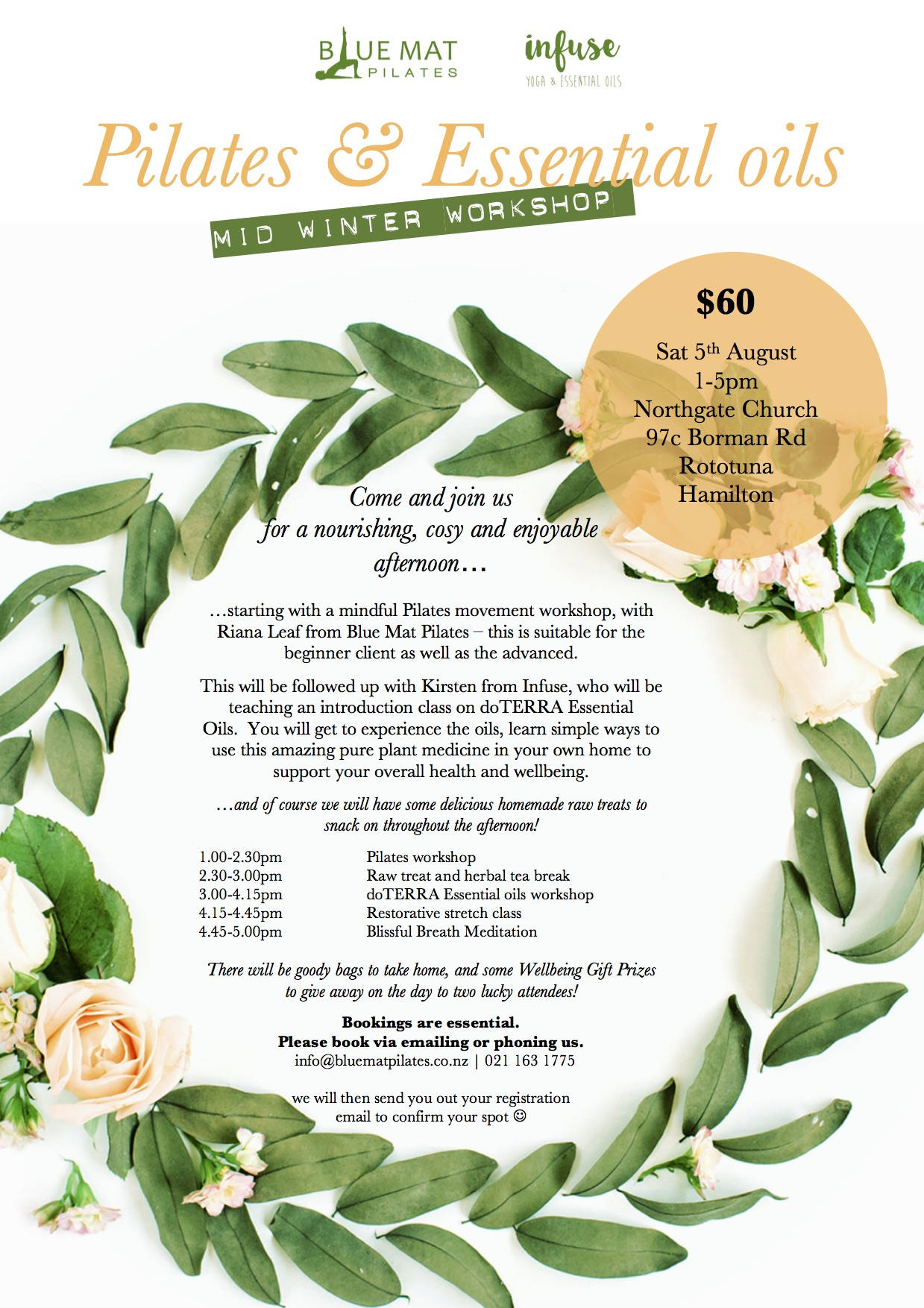 Pilates and essential oils flyer jpeg